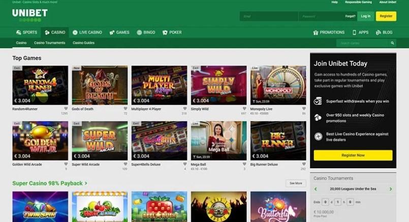 Unibet Casino Online Games