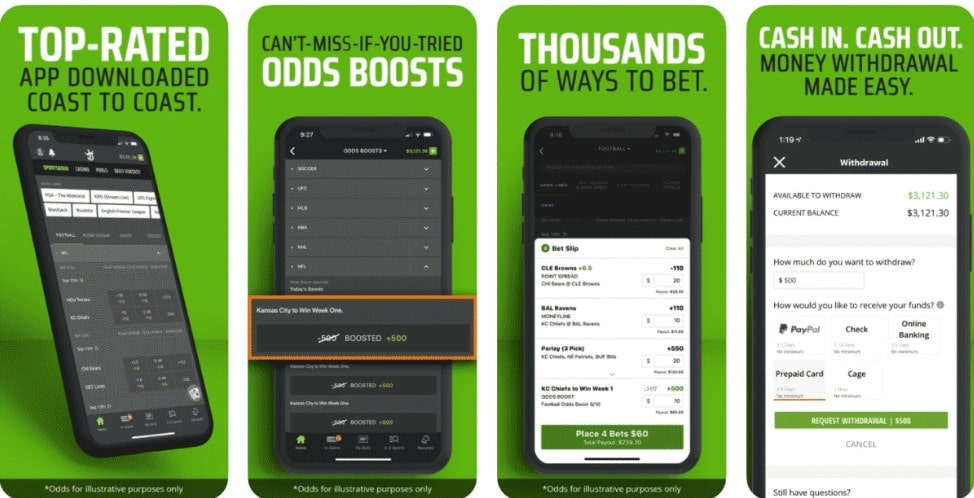 DraftKings DFS Betting Mobile App