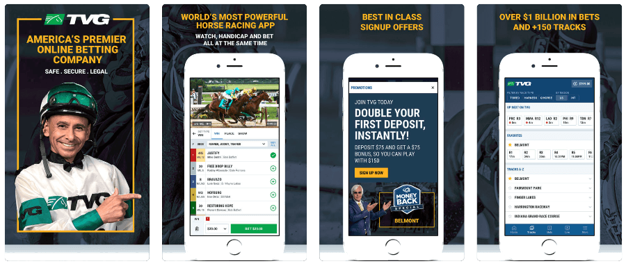 TVG mobile racebook app